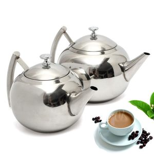 1500ML/2000ML Stainless Steel Teapot Coffee Maker Pot