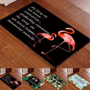 40x60cm tvättbar antislipa Flamingo Doormat Matta golvdäck Badmattor inomhusdäck