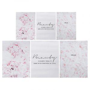 Fjäderblomma rosa kanfas Nordiska affischer Blommiga tryck Wall Art målning dekor