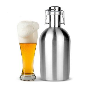 Beer Growler 64oz Swing Top Hip Flask Ultimate Growler 1.9L Botella Bottle