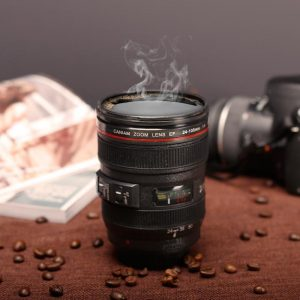 400ML Coffee Tea Mug SLR Camera Lens 24-105mm Food Grade PC 1:1 Scale Creative Cups