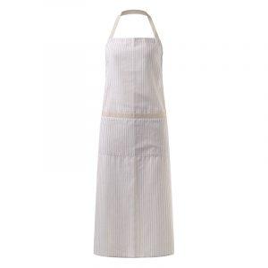 VONDA Chef Cooking Baking Kitchen Garden Cotton Striped Halter Bib Aprons Pinafore Plus