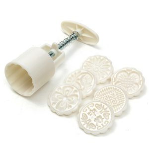 Creative 6 Styles Moon Cake Pastries Sugarcraft Baking Mold Fondant Cutter Decoration Tool