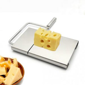 KCASA Stainless Steel Wire Cheese Slicer Butter Cutter Knife with Cheese Board Making Dessert Blade Kitchen Cooking Bake Tool Accessories Tofu Knife For Square Slices Kitchen Cutter Cheese Grater