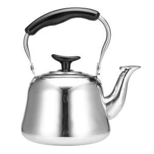 1L rostfritt stål visslande vattenkokare kokande vatten te kaffebryggare Silver vattenkokare