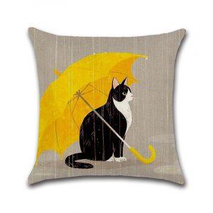 45CM Cartton Black Car B-eer Cotton Linen Cushion Cover Square Pillow Case Sofa Pillowcase