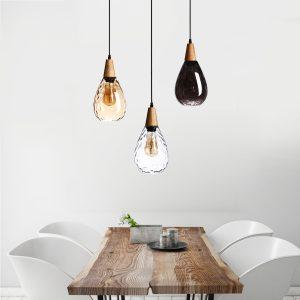 16cm industriell vintage loftglas pendellampa restaurang ljuskrona belysning