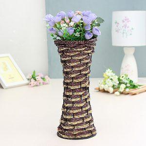 28cm Vine Rotin Rattan Vase Zakkz Flower Bottle Ornaments Flower Arrangement Home Decor