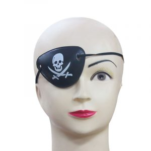 Halloween Pirate Eye Patch Kostymer Pirates of the Caribbean A Masquerade Accessories Cyclops Goggle