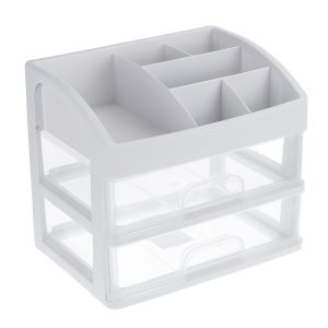 1/2/3 Layers Clear Desktop Comestics Makeup Storage Drawer Organizer Box Container