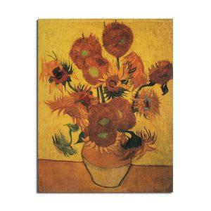 Van Gogh Sunflower Poster Kraft Paper Wall Poster DIY Wall Art 18.5 inch X 14 inch