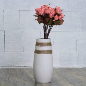 Vit kreativ modern keramisk blomma vas handgjorda blommor bukett vas inredning
