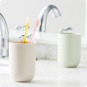 350ML matkvalitet PP Kaffe Tekopp Vattenflaska Tandborstning Sköljkopp Tandborstehållare Mugg