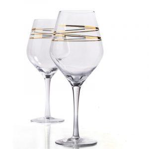 Guld Champagne Glas Vinglas Bar Verktyg Rödvinsglas Vinbägare Wine Glass Cup