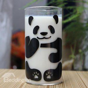 290ML Söt Pandamönster Glasmjölkkaffekopp