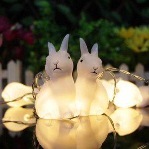1.65M 10LEDs härliga kanin batteridrivna sträng nattlampor för julfest hem dekorationer inomhus