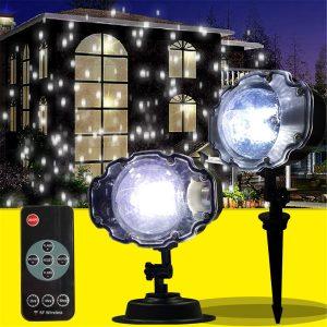 Outdoor Waterproof Laser Projector Snowflake LED Lamp Light Christmas Garden Home Decor Light
