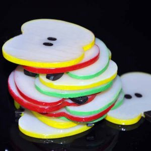 Squishy Artificial Simulation Apple Slices Key Ornaments Home Party Decoration Photograph Props