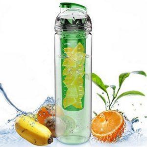 800ML bärbar Clear Sport Fruit Infuser Water Cup Citronsaftflaskfilter