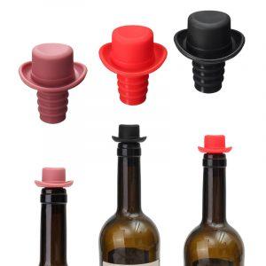 Matkvalitet Silikon Liten hatt Färsk ölflaska Stoppare Vinstoppflaska Flaska Kork Cruet Dids Flaskapslar Stängningar