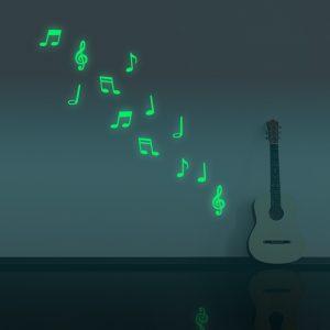 Honana DX-164 12 Stk fluorescerande glöd musikaln vägg klistermärke hem sovrum dekor