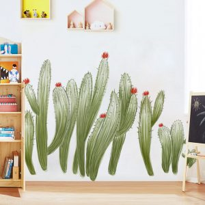 Miico FX82030 2PCS Wall Sticker Hand-Painted Cactus Creative Decorative Wall Sticker Home Decoration Sticker