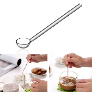 Borosilicate Transparent Glass Coffee Scoop Sugar Spoon Coffee Spoon Stirring Tools