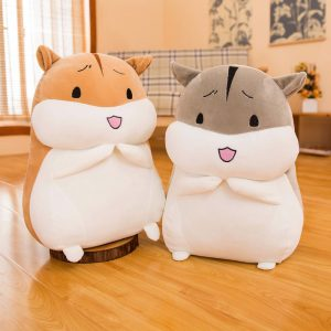 "12/16/20"" Cute Soft Cartoon Hamster Plush Cushion Pillow Child Baby Toy Gift Home Decor Doll"