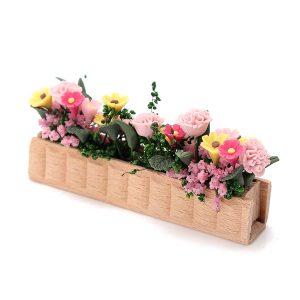 1:12 Doll House Aertificial Miniature Clay Flower Plant Pot DIY Craft Ornament Garden Decor
