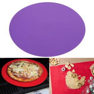 "11.8 ""Silikon rund bakmatta ugn mikrovågsugn cookie pizzabakblad pizza matta"