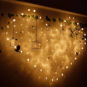 2x1m 128 LED Heart Shape Light String 220V Curtain Light Home Decor Celebration for Festival Christmas