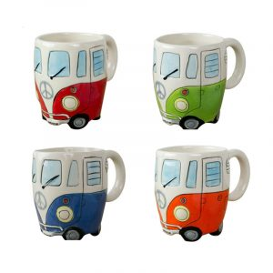 Creative Hand Painting Cartoon Double Bus Mugs Retro Ceramic Cup Coffee Milk Tea Mug Drinkware Novetly Gift Cartoon Double Bus Mugs