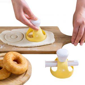 Kreativa DIY Donut Mold Cake Decorating Tools Efterrätter Bröd Cutter Maker Bakform Kök Verktyg