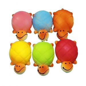1 STK 10X13CM Slumpmässig Kawaii Turtle Shape Squishy Toy Cell Phone Chain