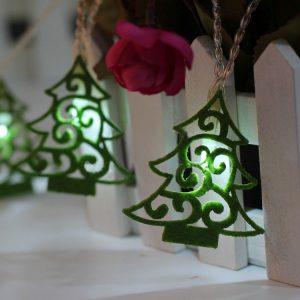 10 Non-woven Christmas Trees LED Light Christmas Tree Kids DIY Home Festival Decorations Ornaments