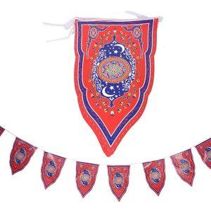 8PCS Ramadan Flag Islamic Bunting Hanging Flag Eid Mubarak Party Decorations