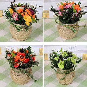 Hemp Roses Simulation Flower Plant Potted Suit Wedding Dress Decoration
