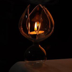 Lotus Flower Glass Ljusstake Candelabrum Ljusstake Ljus Ljus Middag Heminredning Present