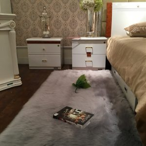 120x60cm Faux Wool Plush Rug Soft Shaggy Carpet Home Floor Area Mat Decoration