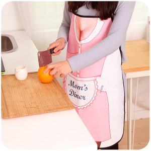 Household Cooking BBQ Kitchen Party Dress Sexy Mom Sleeveless Apron Funny Gift