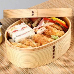 Japanese Style Wooden Lunch Box Student Bento Box Sushi Box