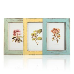 Vintage 5inch Solid Wood Photo Picture Frame Wall Hanging Shabby Chic Room Decor