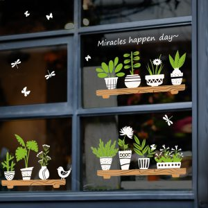 Miico SK6093 Home Glass Door And Window Stickers Creative Decorative Wall Sticker DIY Stickers