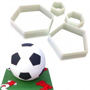 4st Fotbollsgulvskärare Plastskärsgods Fondantformar Tårta dekorationsformar Tårtformar Chokladformar Bakform