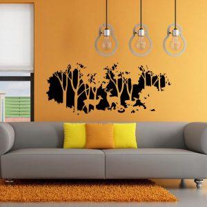 58cmx126cm Forest Fawn Deer Wall Sticker Wall Decal Home Room Wall Art Decor Gift