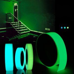 5mx15mm självlysande tejp självhäftande grönblå glödande i den mörka säkerhetsstadiet Heminredning