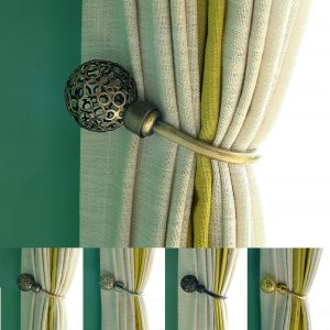 2 st Moderna gardin Holdback Tieback Hollow Metal Tie Tassel Hook Loop Holder