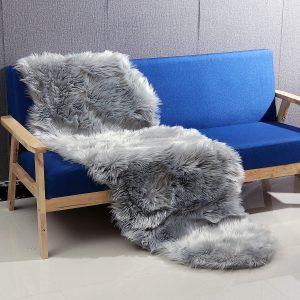 190 * 70 CM Rektangel Fårskinn Rug Artificial Wool Soft för stol Soffa Golvmatta