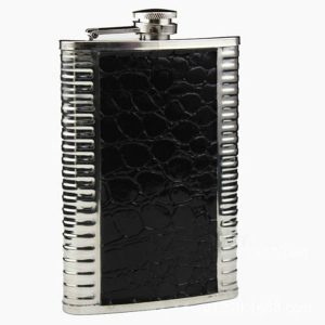 9oz Leather Stainless Steel Hip Flask Liquor Alcohol Drink Whisky Pocket Bottle