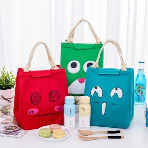 Lunch Tote Bag Portable Picnic Cooler Insulated Handbag Food Storage Container